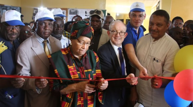Liberian President Dedicates Several Projects in Grand Gedeh County
